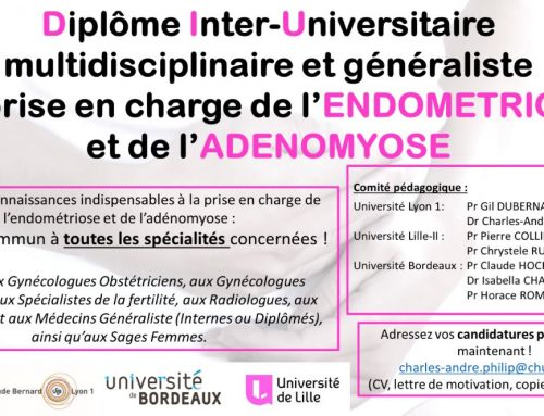 Le 1er Diplôme inter universitaire endométriose